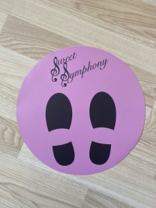 Social distancing was implemented in the Sweet Symphony Studio when we returned after lockdown.